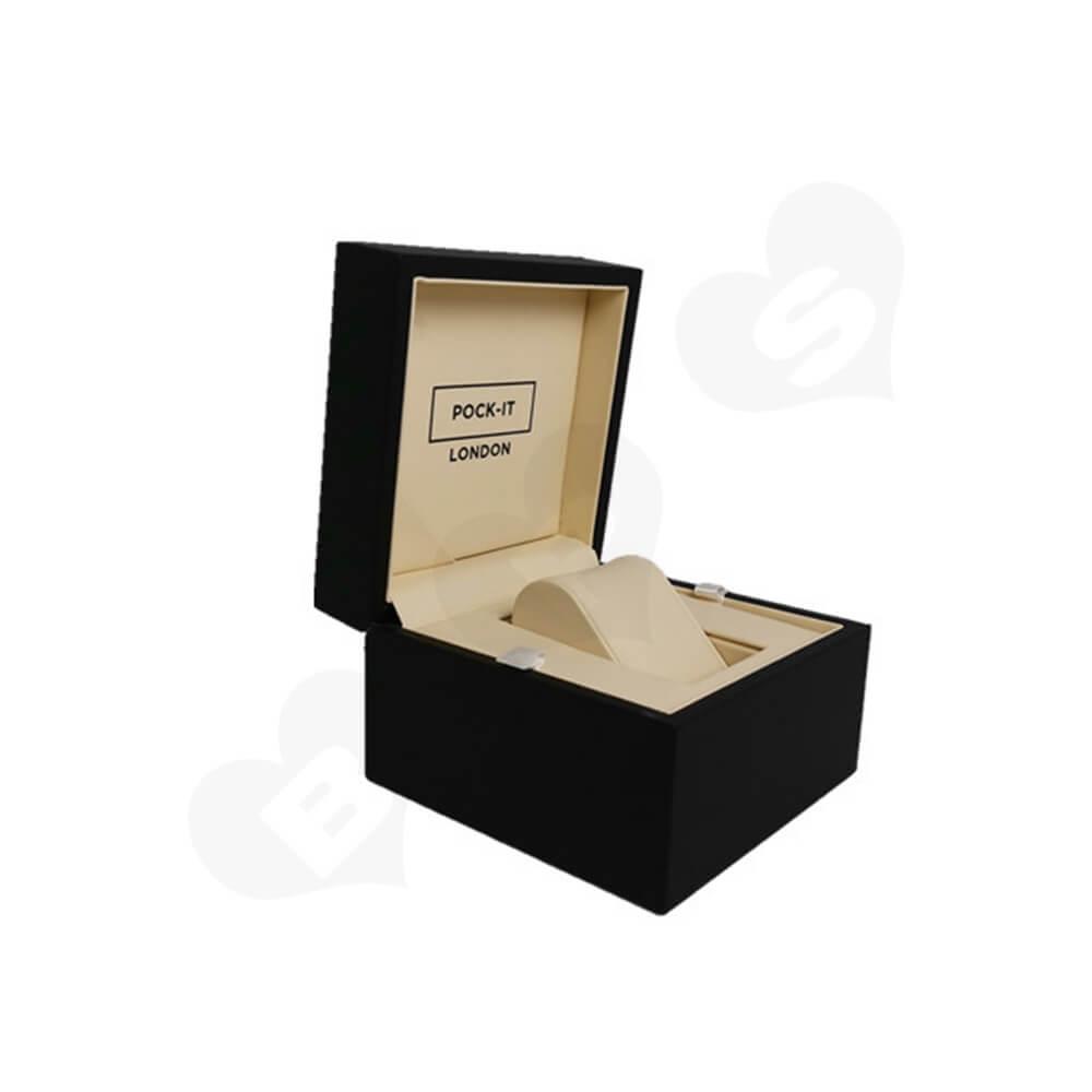 Custom Printed Cardboard Box For Watch Side View One