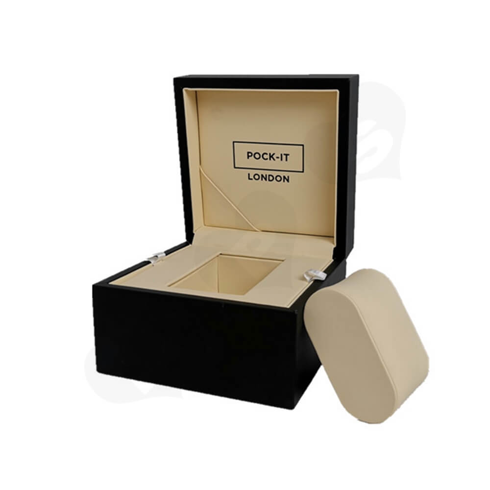 Custom Printed Cardboard Box For Watch Side View Three