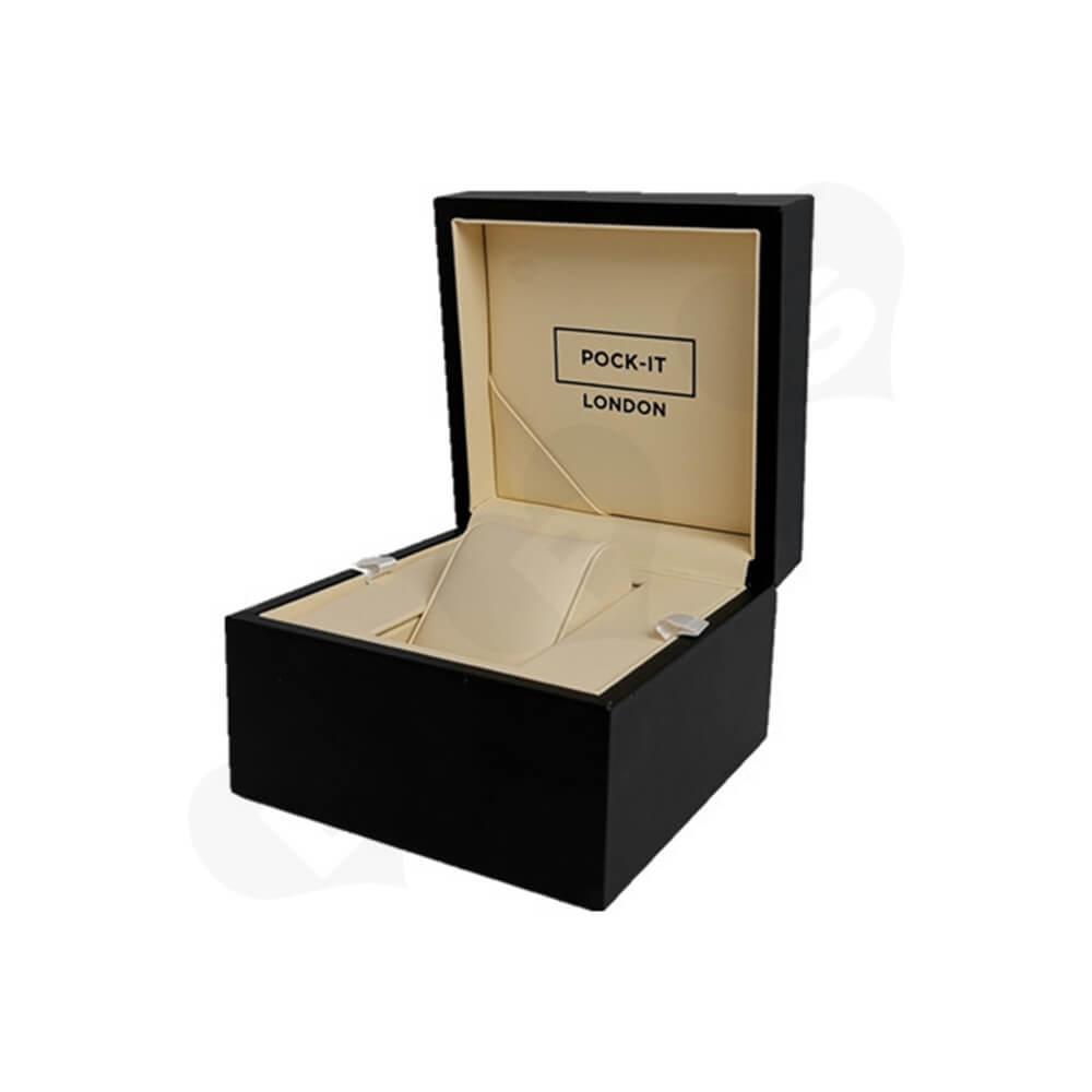 Custom Printed Cardboard Box For Watch Side View Two
