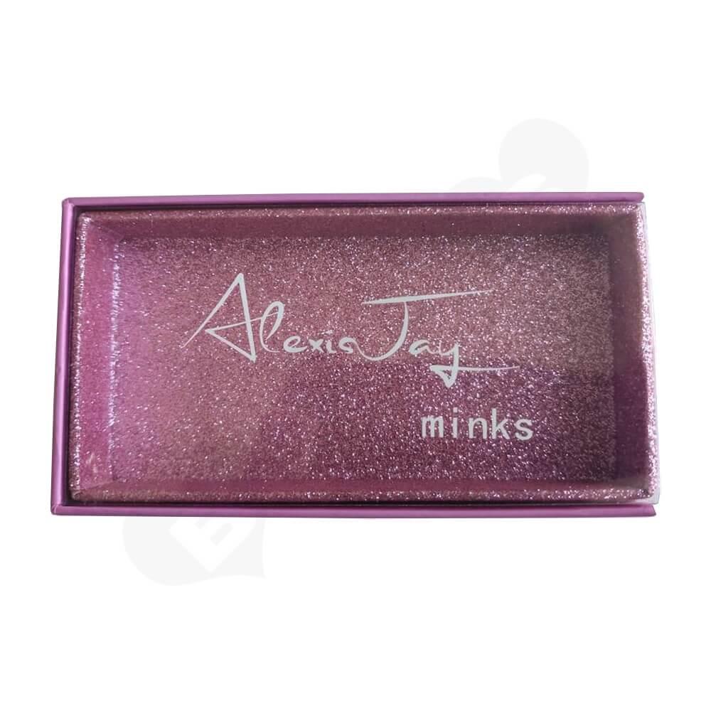 Custom Printed Drawer Box For Eyelashes Side View One
