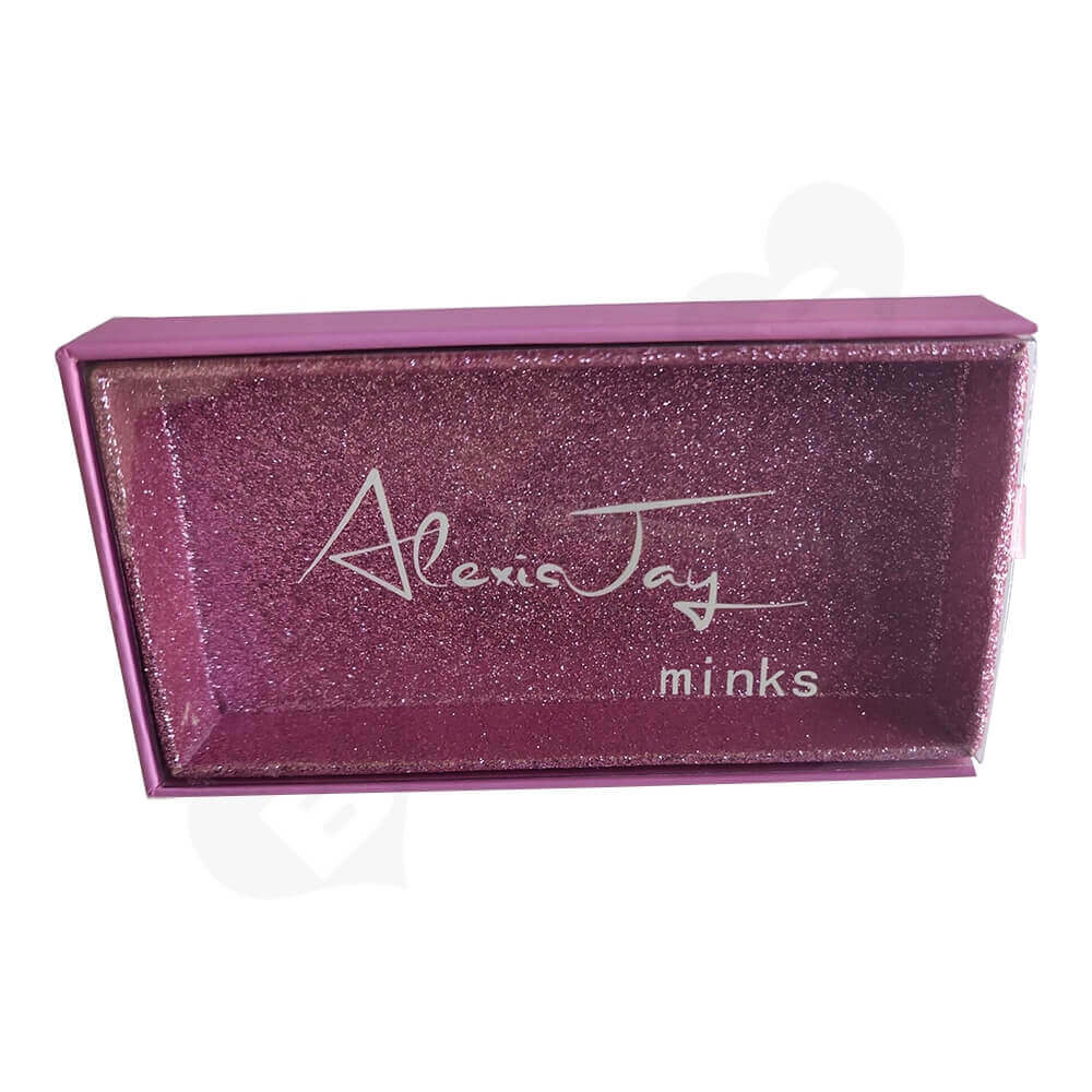 Custom Printed Drawer Box For Eyelashes Side View Two