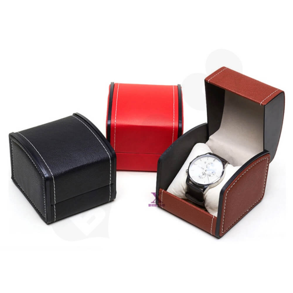 Custom Printed Unique Shape Watch Box Side View One