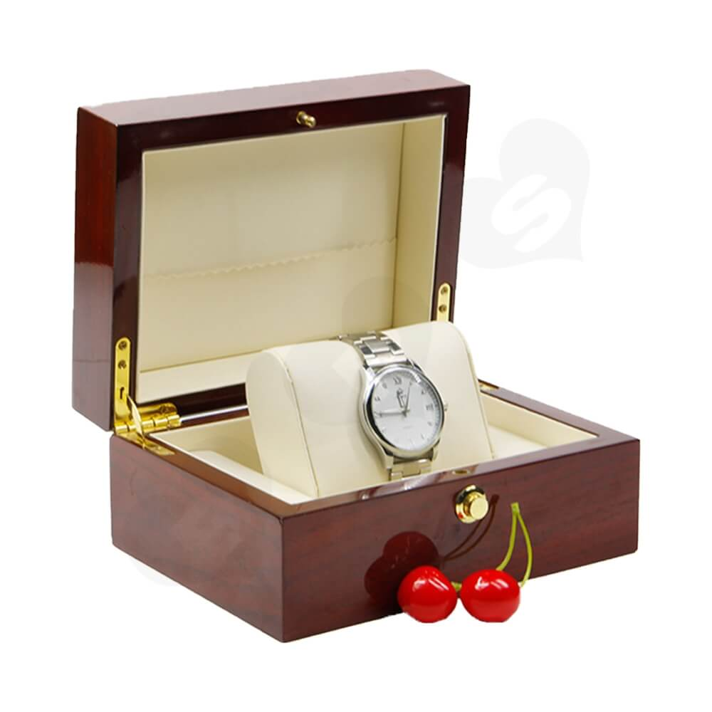 Custom Printed Wooden Box For Watch Side View Five