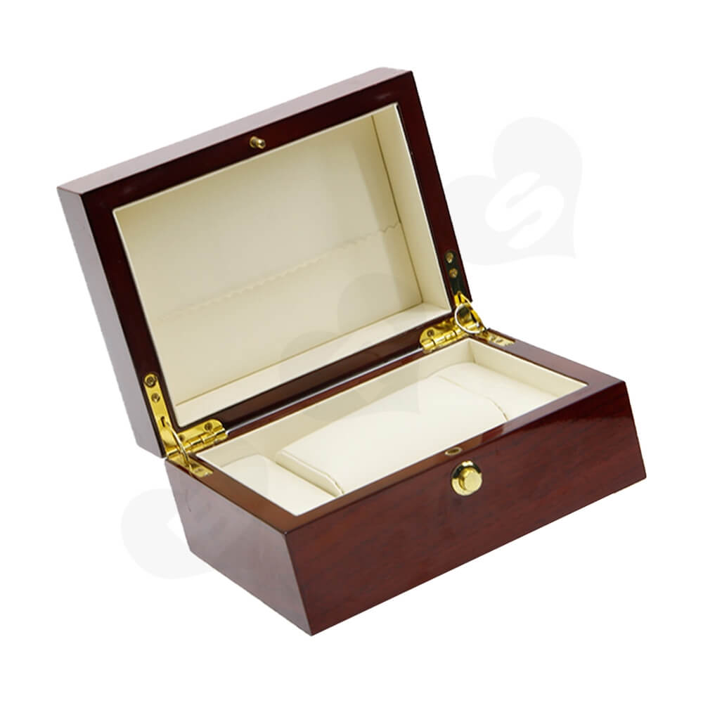 Custom Printed Wooden Box For Watch Side View Four