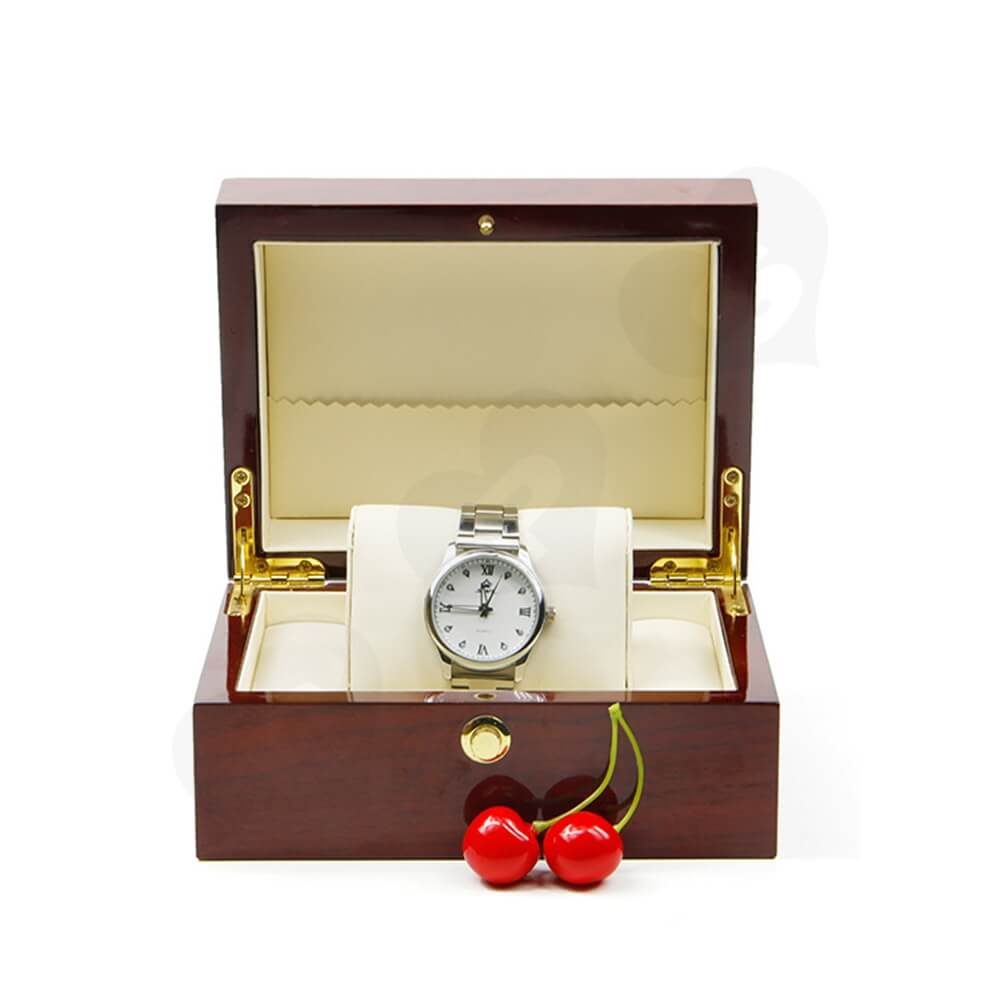 Custom Printed Wooden Box For Watch Side View One