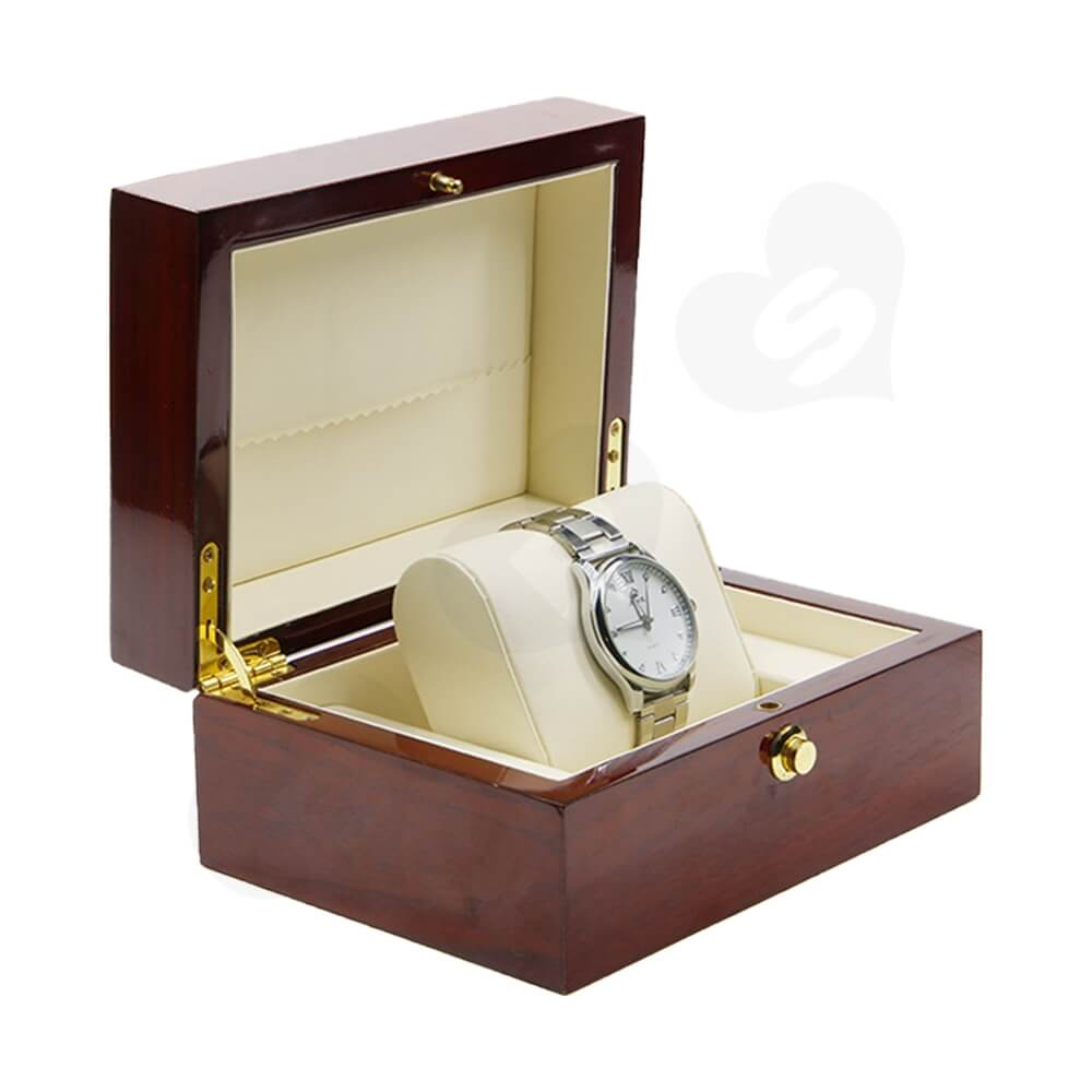 Custom Printed Wooden Box For Watch Side View Three