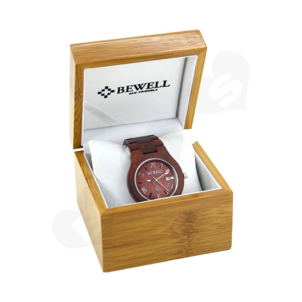 Custom Printed Wooden Case Box For Watch Side View One