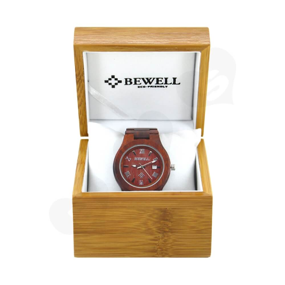 Custom Printed Wooden Case Box For Watch Side View Two