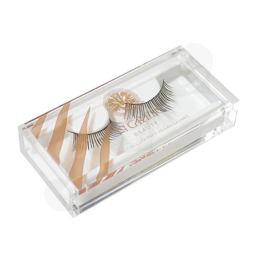 Custom Printing Acrylic Eyelash Box Side View One