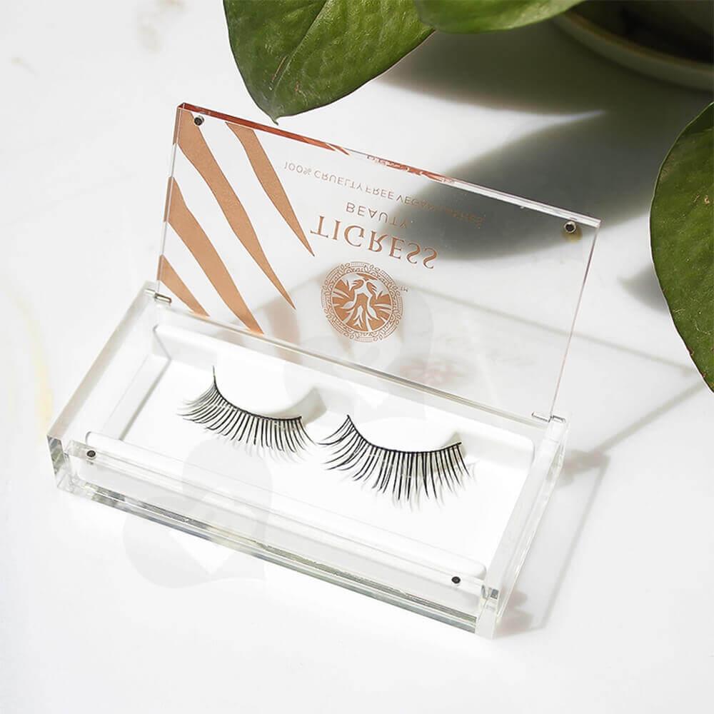 Custom Printing Acrylic Eyelash Box Side View Three