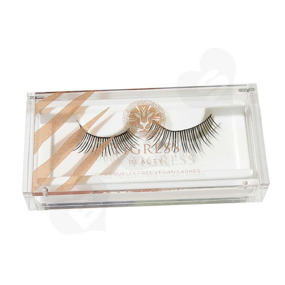 Custom Printing Acrylic Eyelash Box Side View Two