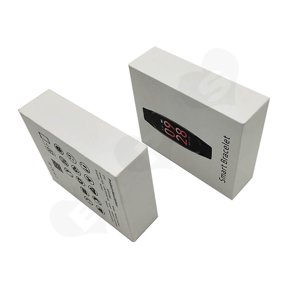 Custom Rigid Box For Smart Bracelet Watch Side View Four