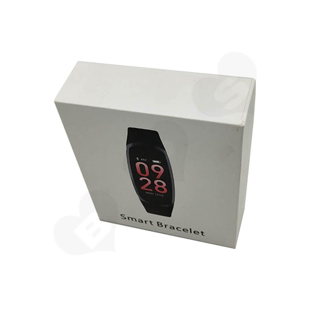 Custom Rigid Box For Smart Bracelet Watch Side View Three