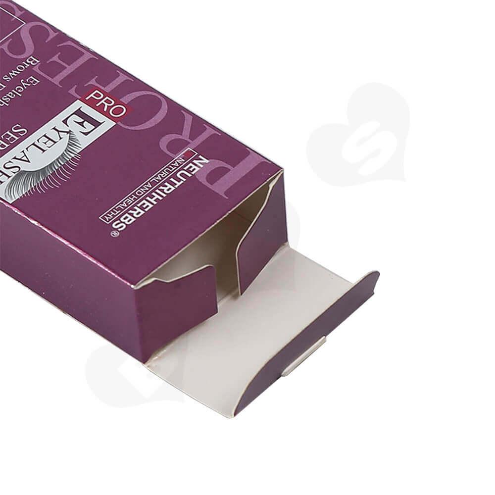Custom Tuck End Folding Carton Box For Eyelash Side View Four