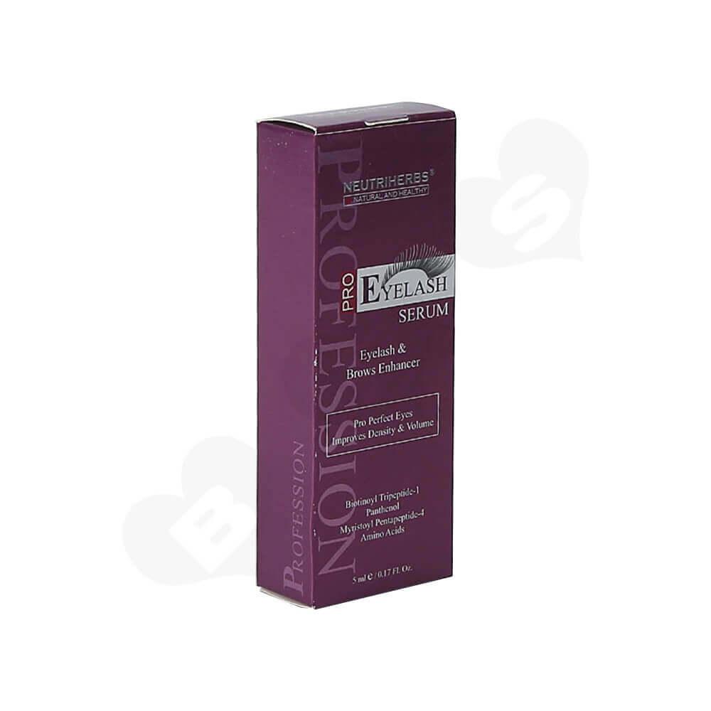 Custom Tuck End Folding Carton Box For Eyelash Side View One