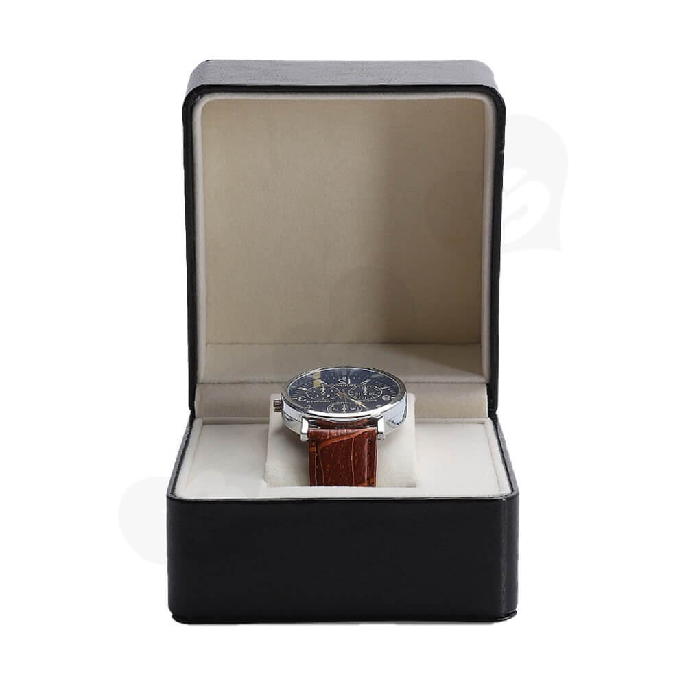 Customizable Faux Leather Box For Luxury Watch Side View Five