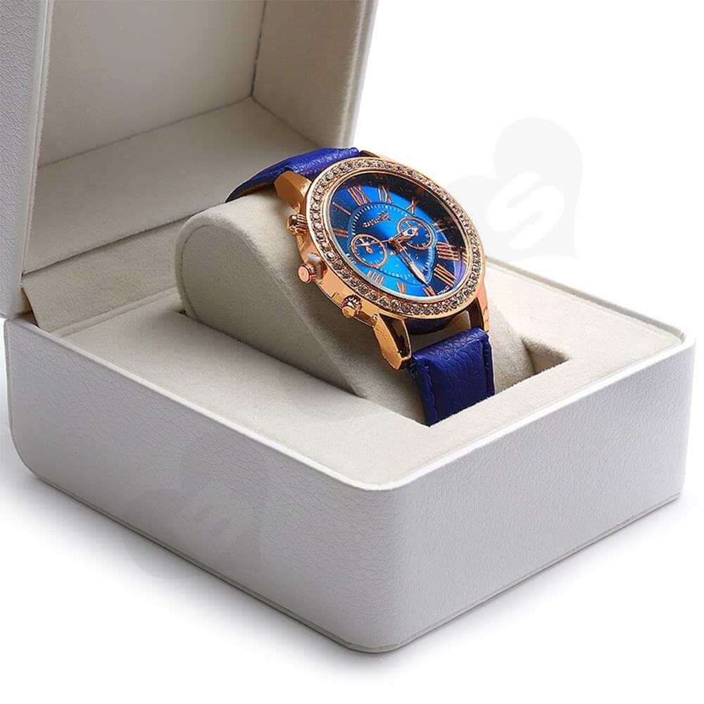 Customizable Faux Leather Box For Luxury Watch Side View Four