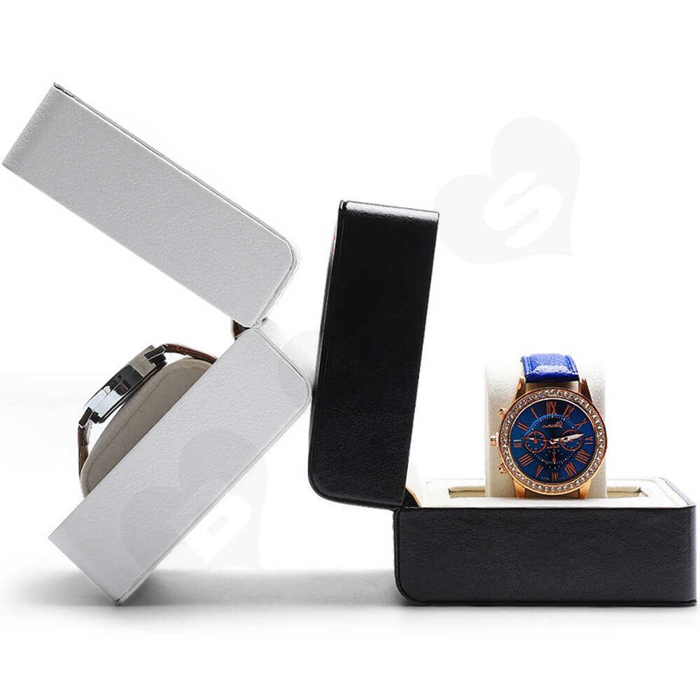 Customizable Faux Leather Box For Luxury Watch Side View One