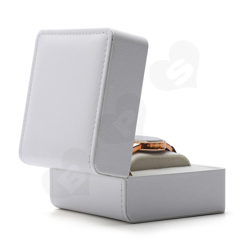 Customizable Faux Leather Box For Luxury Watch Side View Three