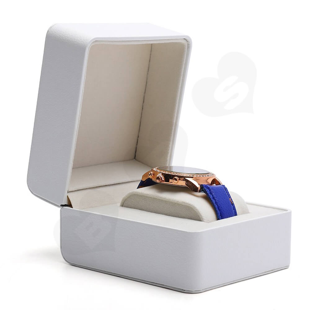 Customizable Faux Leather Box For Luxury Watch Side View Two