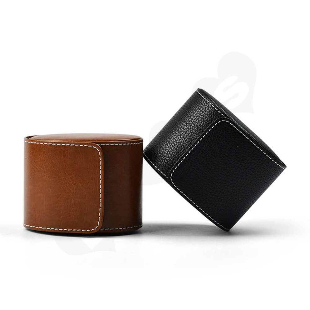 Customizable Faux Leather Organizer Box For Watch Side View Six