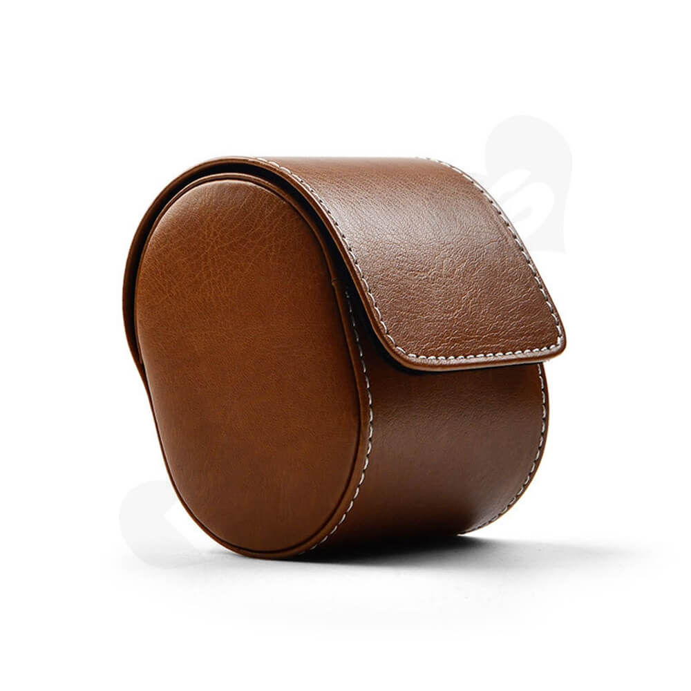Customizable Faux Leather Organizer Box For Watch Side View Three