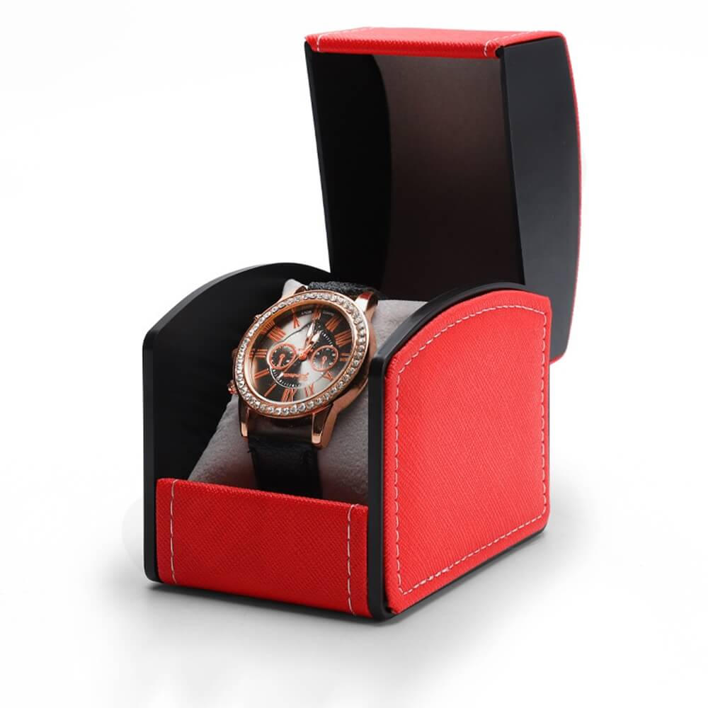 Customized Cardboard Box With Faux Leather For Women Side View Three