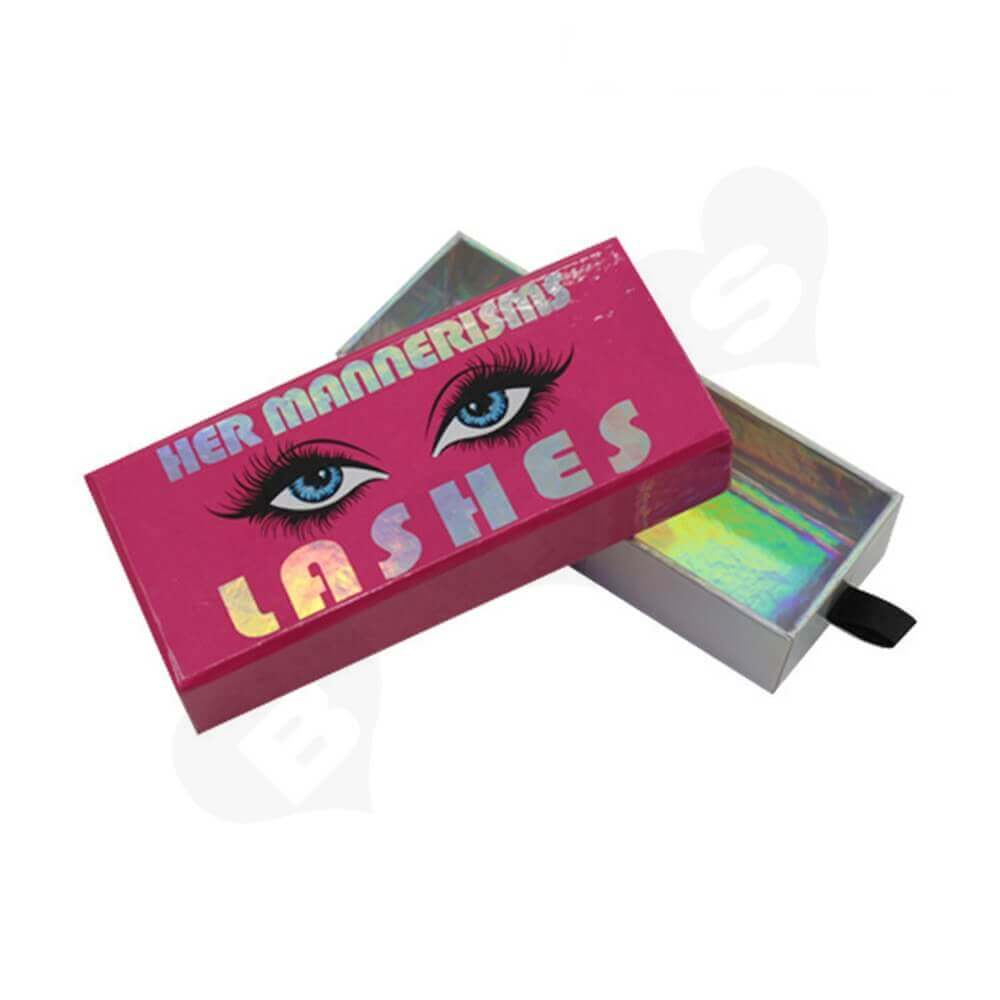 Customized Laser Printed Gift Box For Eyelashes Side View Four