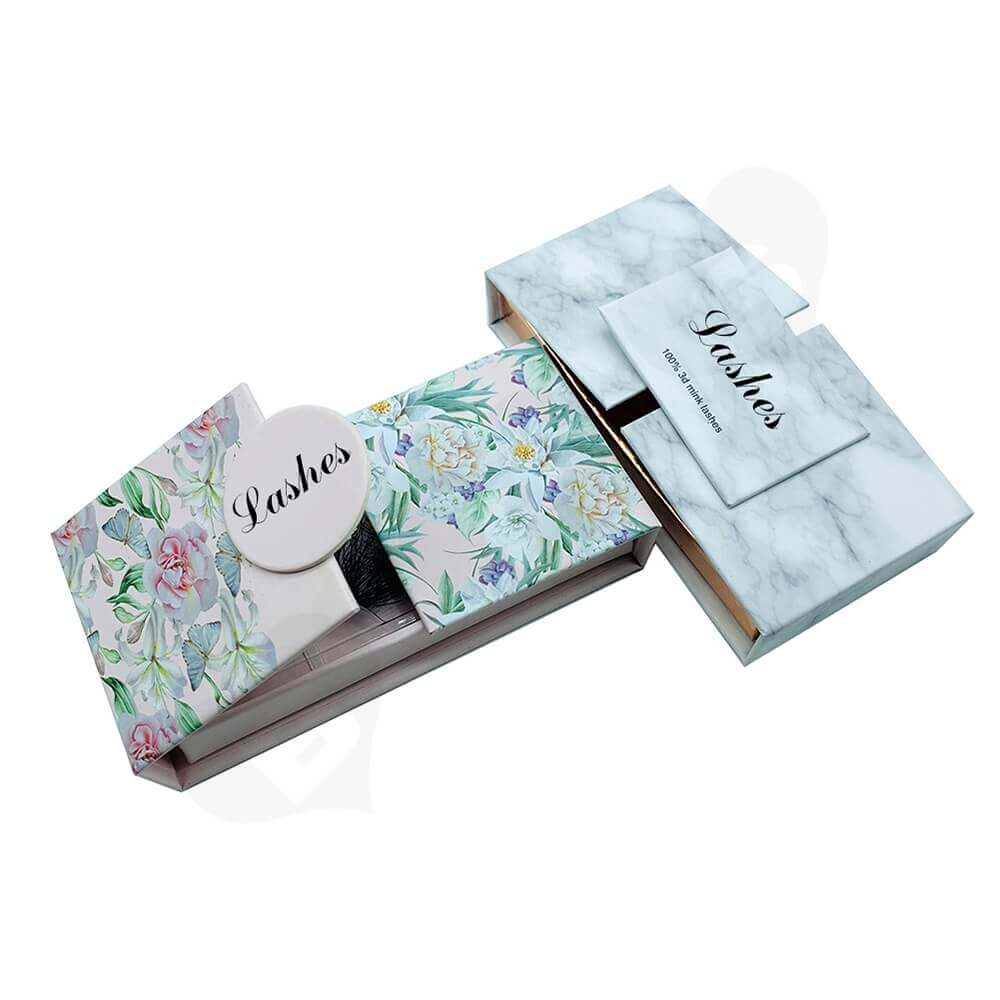 Double Sided Opening Eyelash Box Side View Five