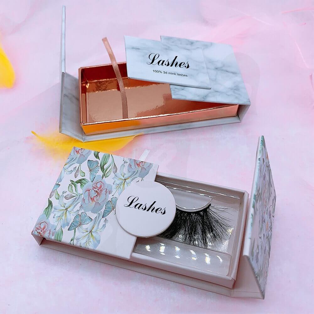 Double Sided Opening Eyelash Box Side View Four