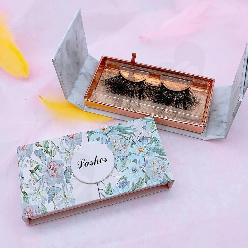 Double Sided Opening Eyelash Box Side View Two