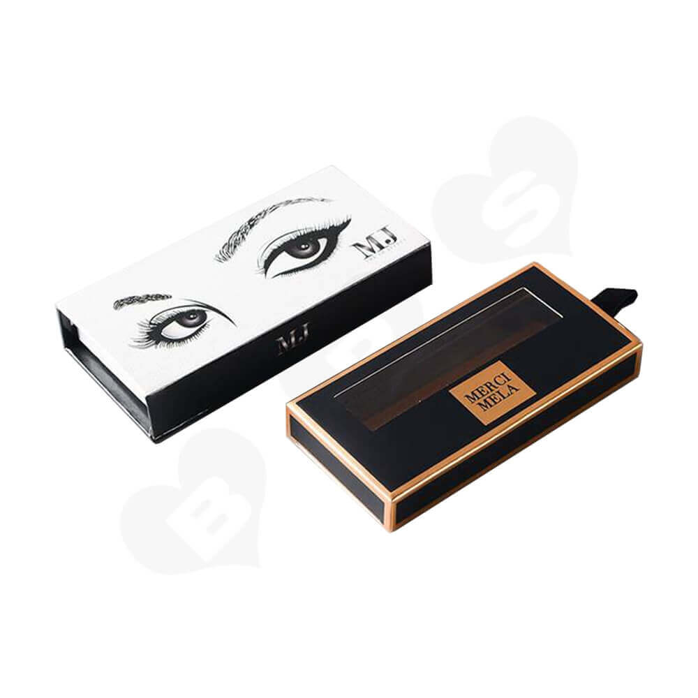 Double Sided Printing Eyelash Gift Box Packaging Side View Four