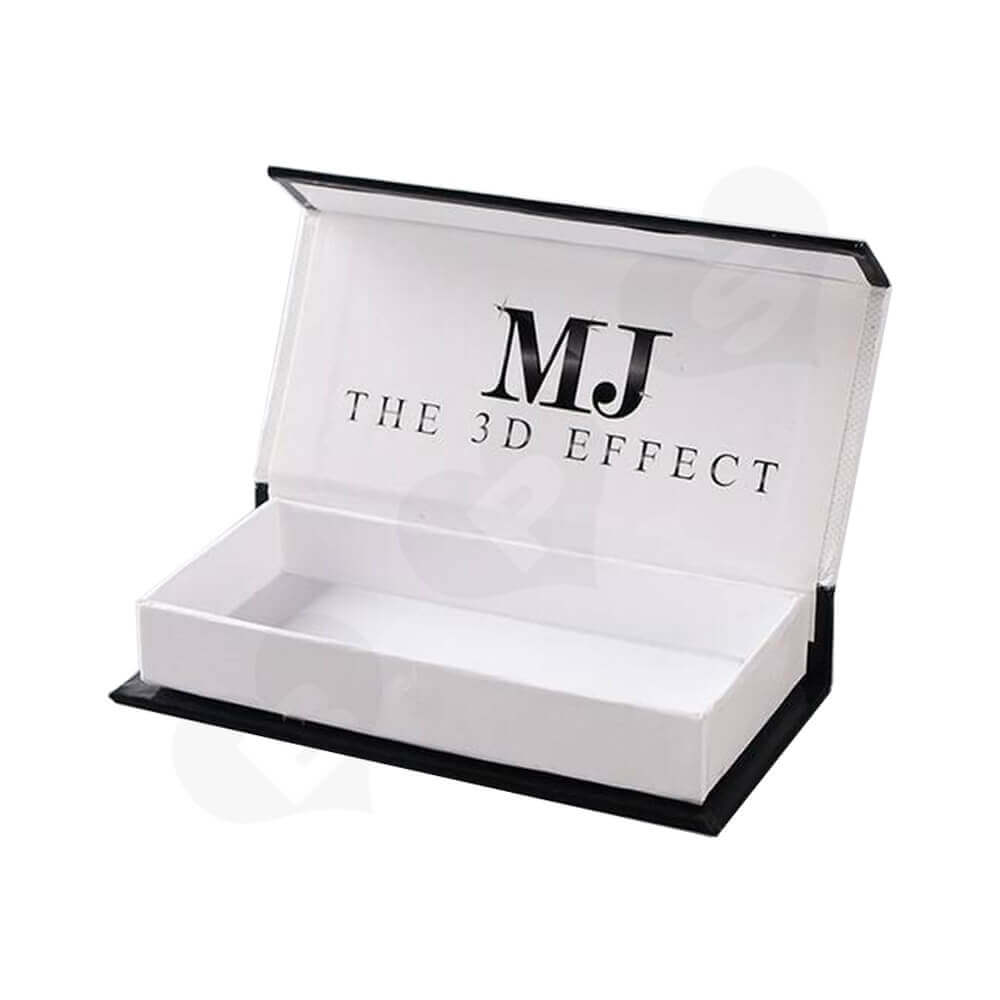 Double Sided Printing Eyelash Gift Box Packaging Side View Three