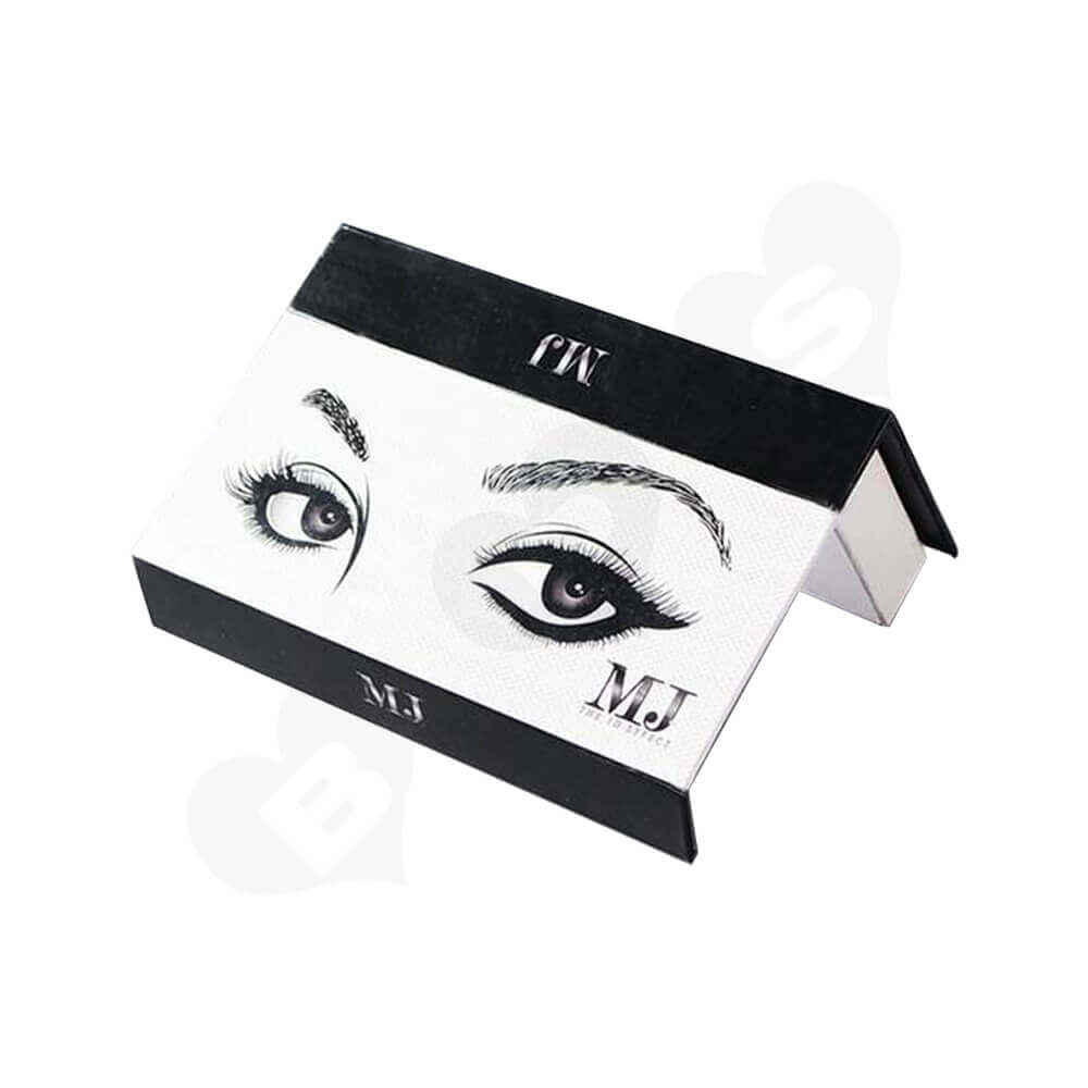 Double Sided Printing Eyelash Gift Box Packaging Side View Two