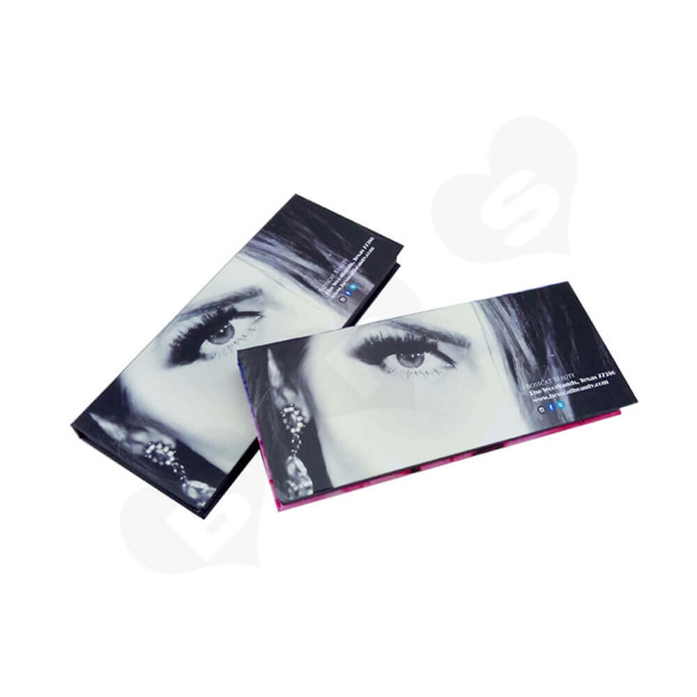 Double Sided Printing Gift Box For Eyelashes Side View One