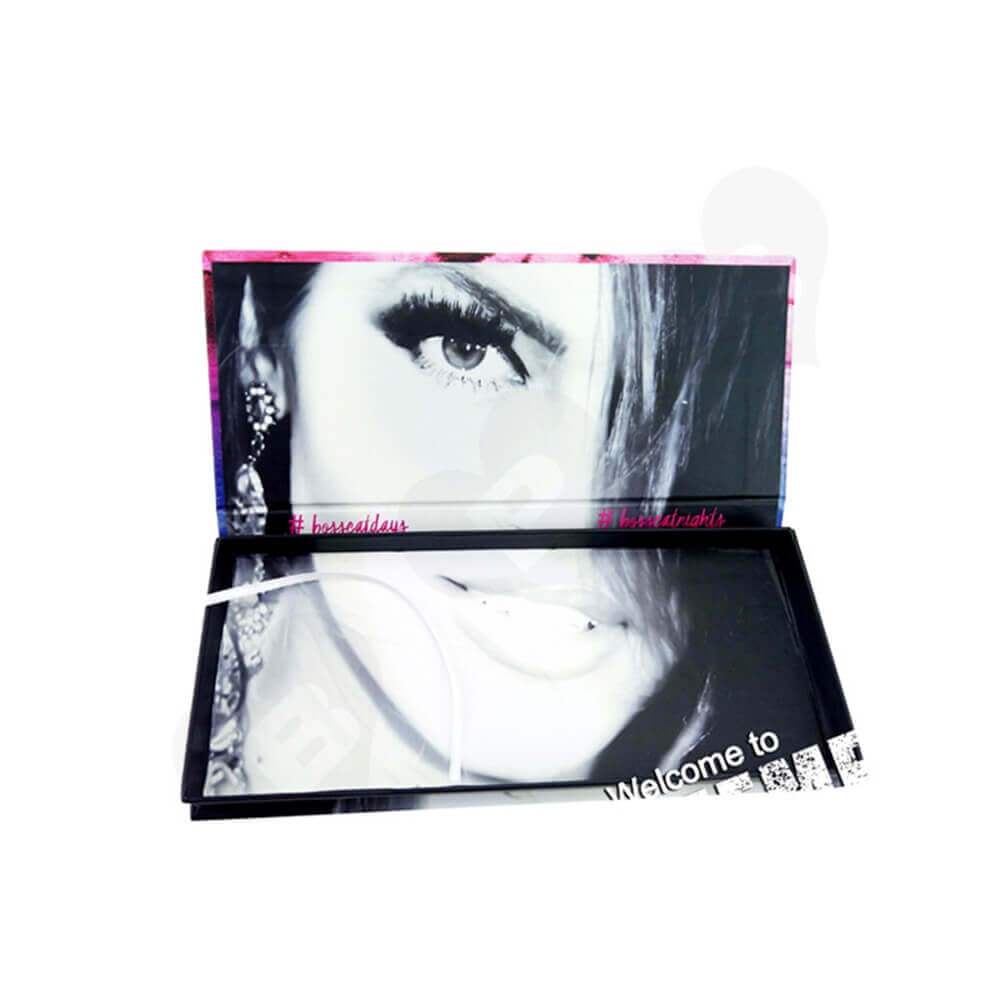 Double Sided Printing Gift Box For Eyelashes Side View Two