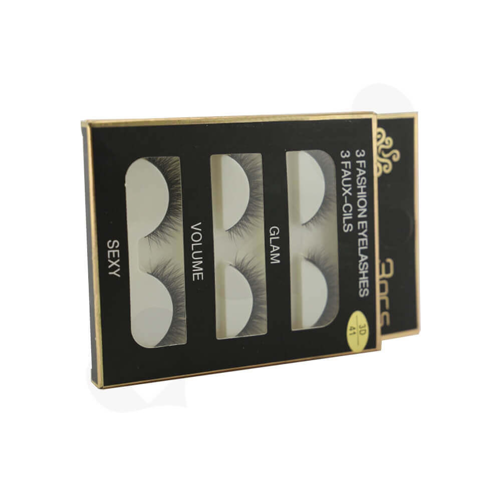Eyelash Kits Packaging Box Side View Three