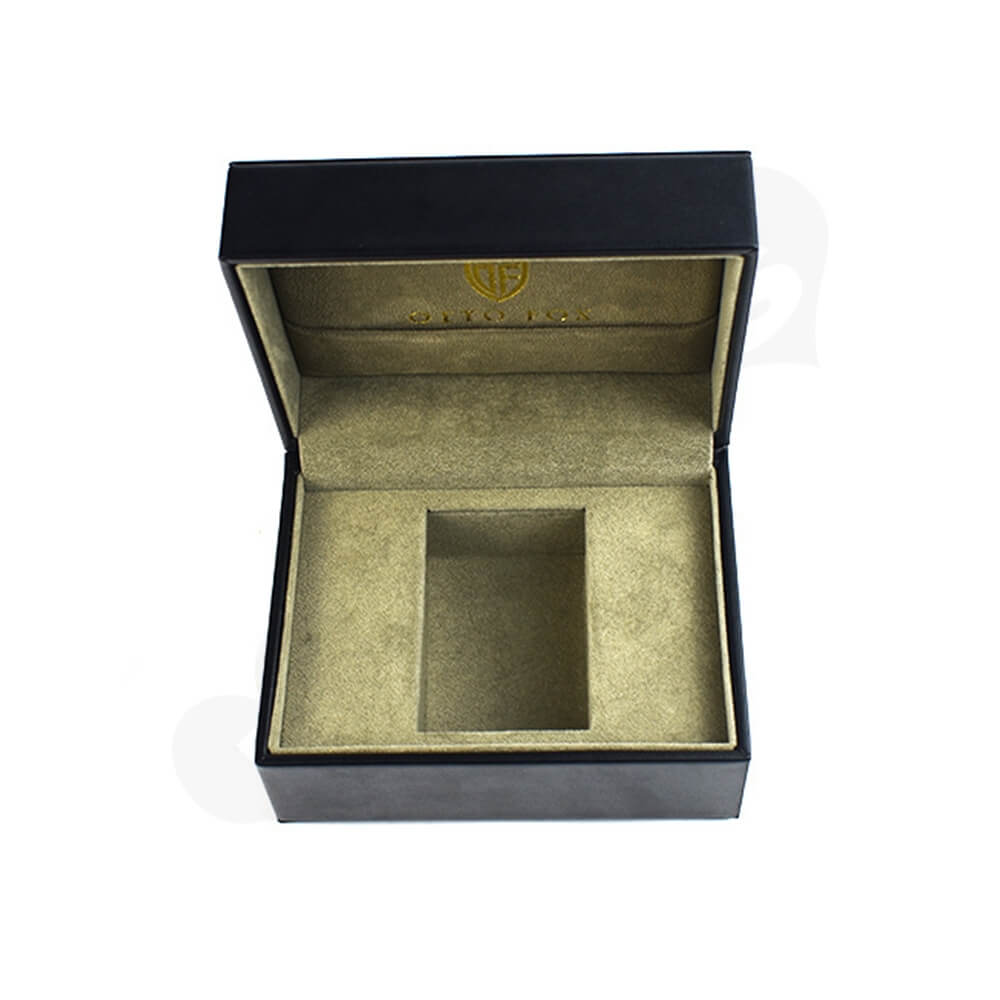 Faux Leather Coated Watch Box Side View Four