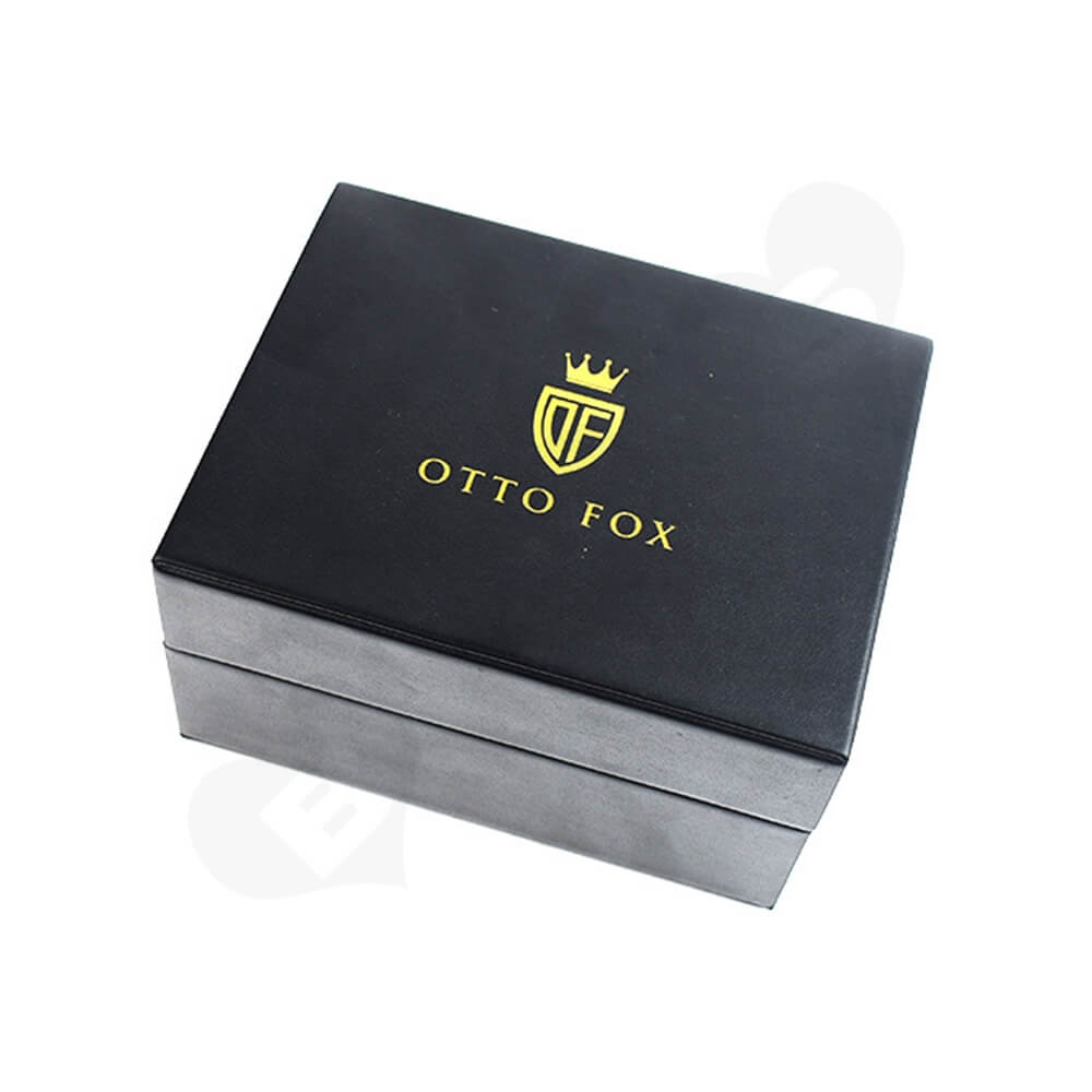 Faux Leather Coated Watch Box Side View One