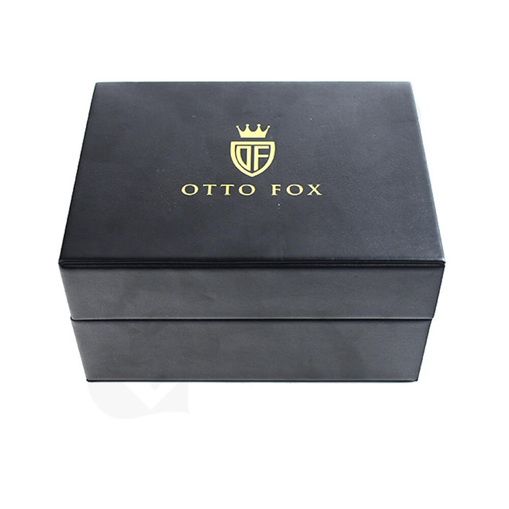 Faux Leather Coated Watch Box Side View Three