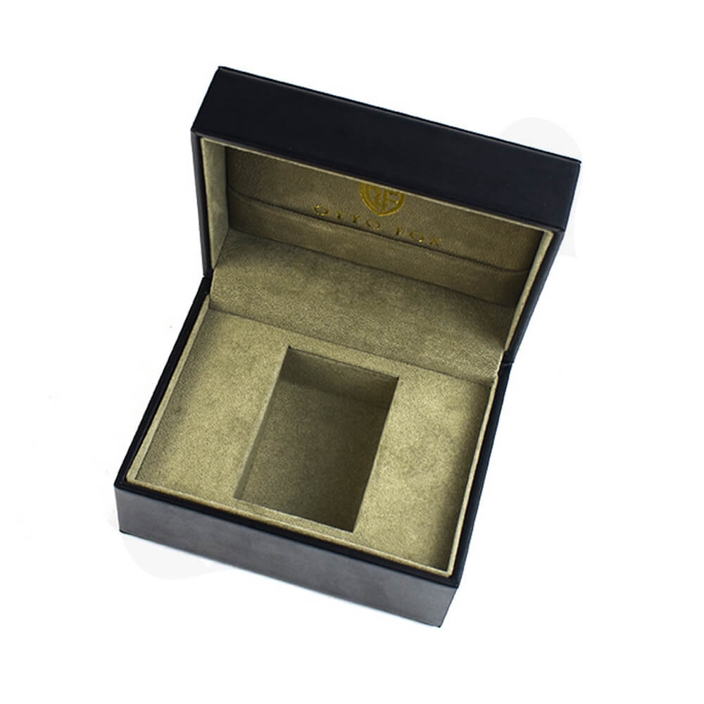 Faux Leather Coated Watch Box Side View Two