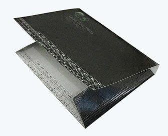Flexible thick paper folder