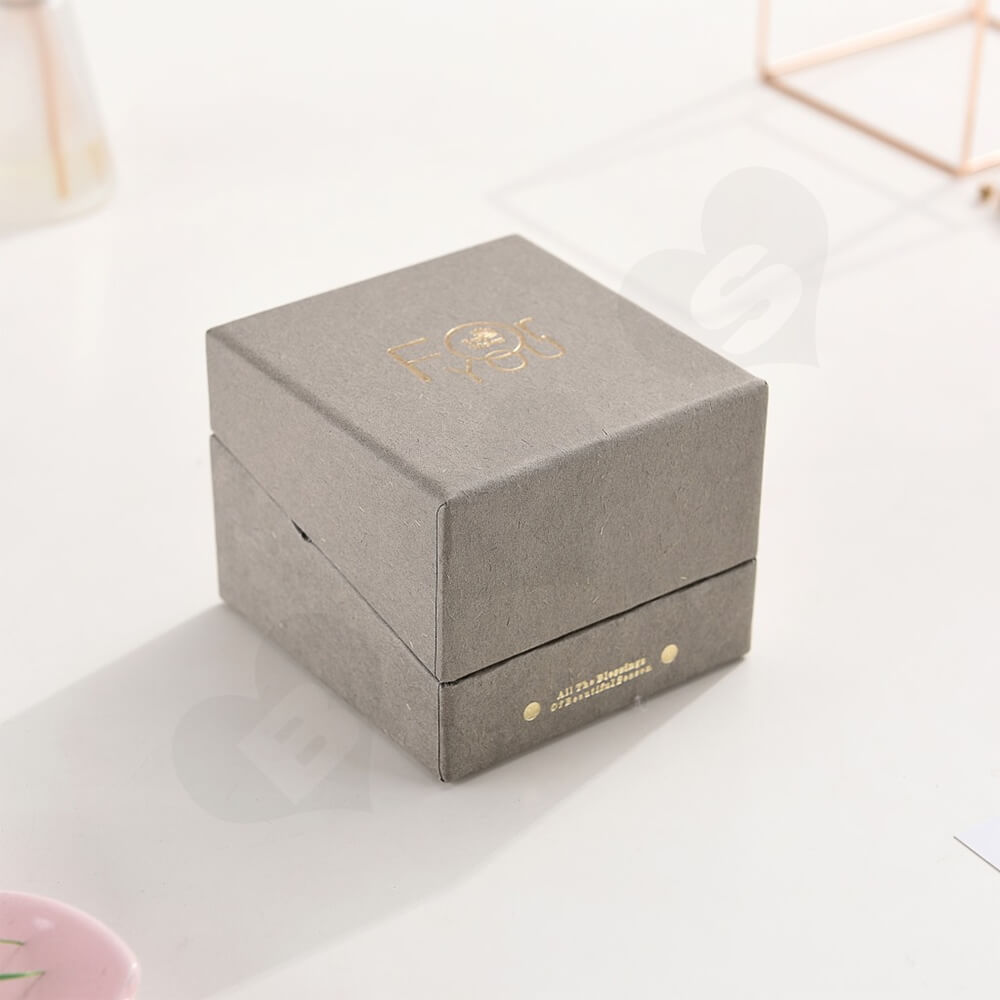 Foil Stamped Watch Box With Branded Logo Side View Four