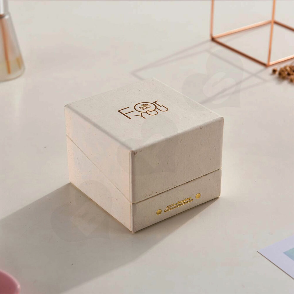 Foil Stamped Watch Box With Branded Logo Side View Three