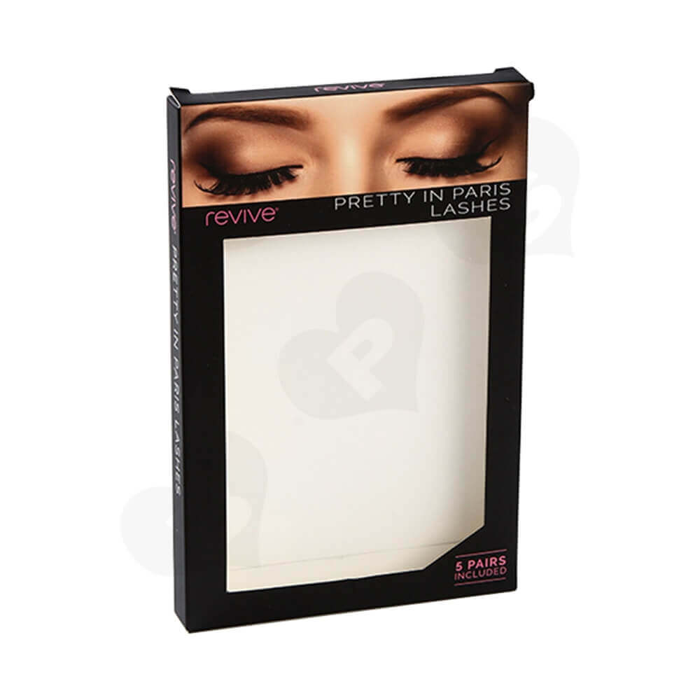 Folding Carton Box With Window For Eyelash Side View One