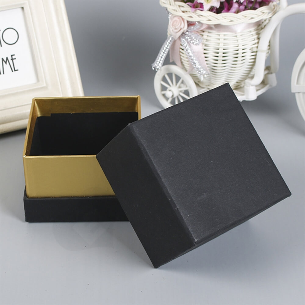 Gold Foil Stamped Watch Box Customizable Side View Three