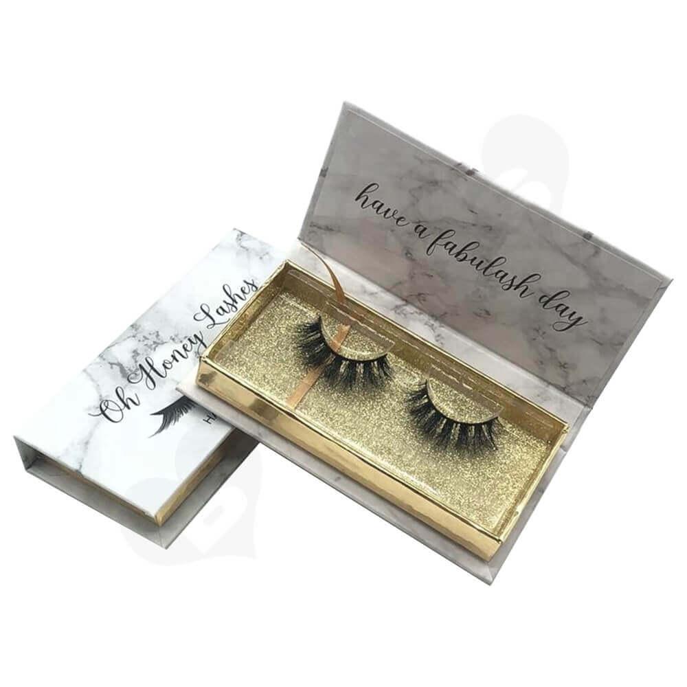 High Quality Eyelash Packing Box Side View Three
