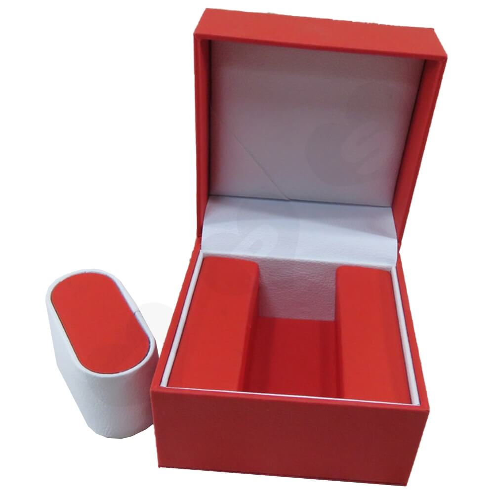 High Quality Watch Box With Litchi Pattern Side View One