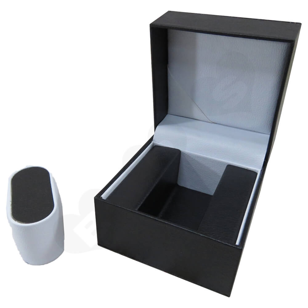 High Quality Watch Box With Litchi Pattern Side View Three