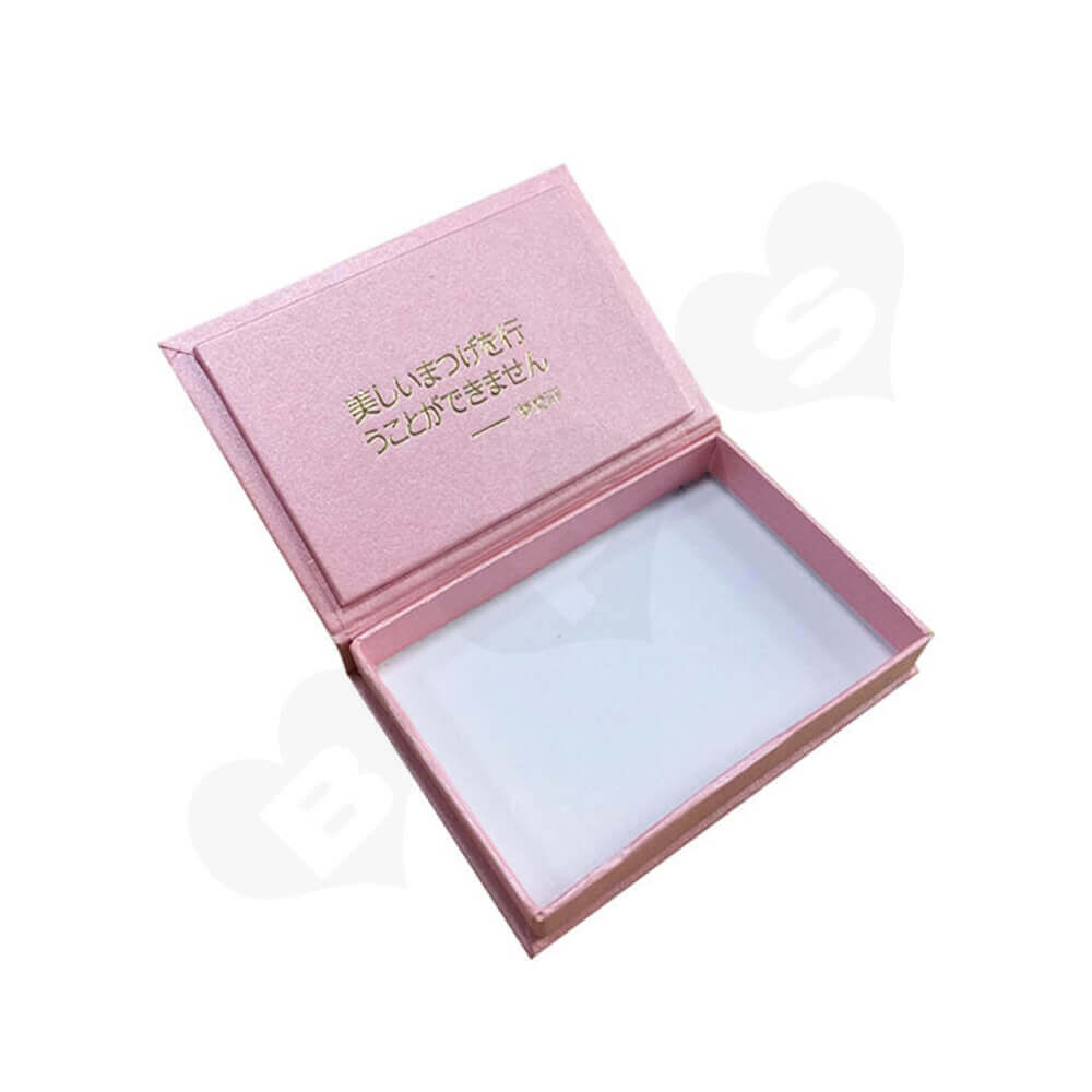 Hinged Lid Gift Box For Eyelashes Side View One